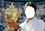 Roger Federer with title